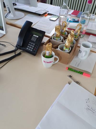 Dank an die Corona-Hotline (Bild: © komba Ortsverband Münster)
